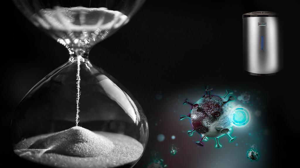 quanto tempo per sanificare un ambiente con la fotocatalisi?